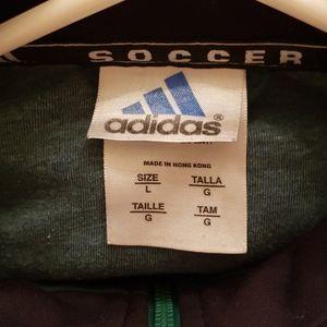 adidas Shirts & Tops - Green Adidas Youth Large Soccer Jacket